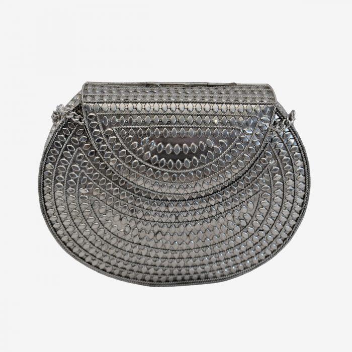 bolso metalico de fiesta
