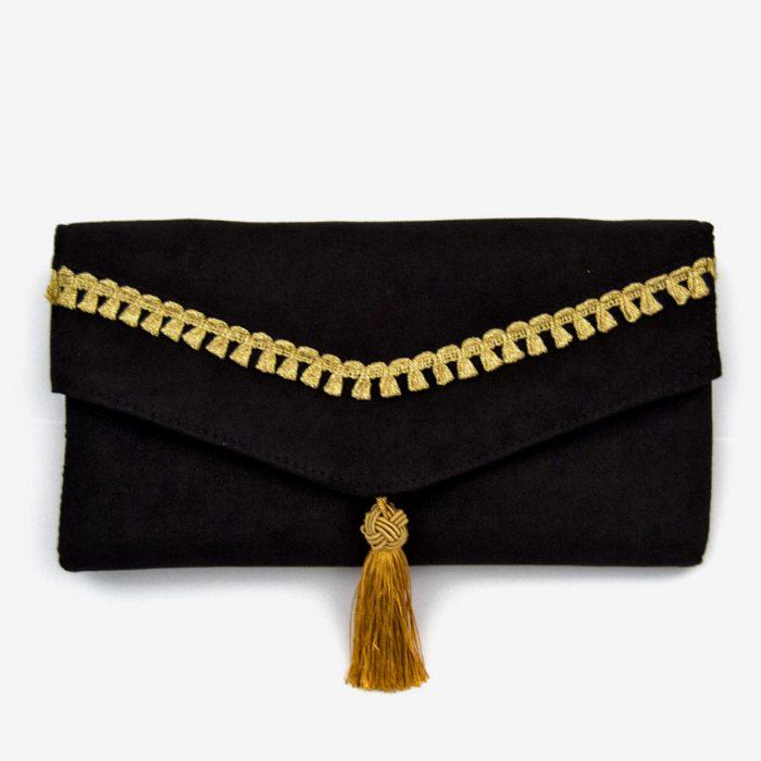 bolso de fiesta con pasamaneria
