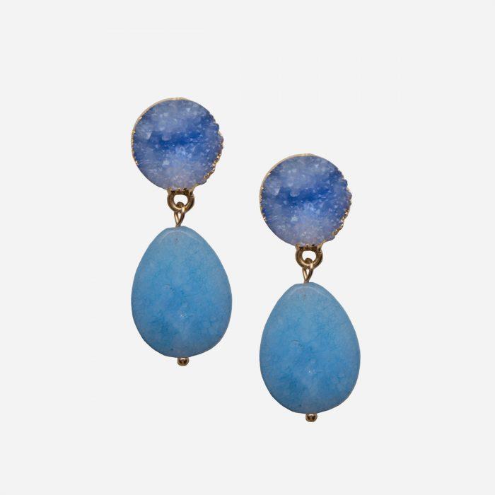 pendientes de piedra natural azul
