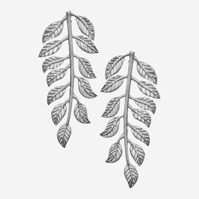 pendientes de hojas largos