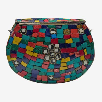 bolso cofre de colores