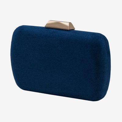bolso de fiesta azul marino