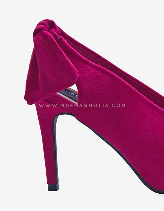 zapatos de tacon de color fucsia