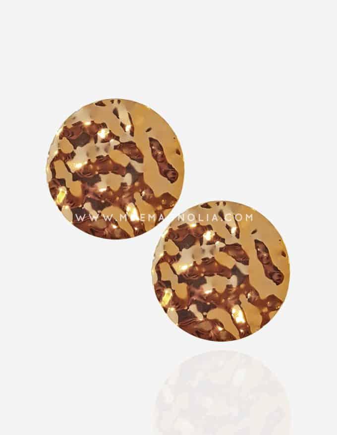 pendientes grandes dorados circulares