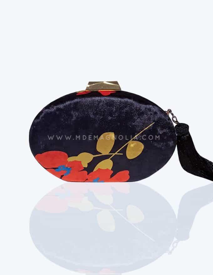bolso de terciopelo con borla