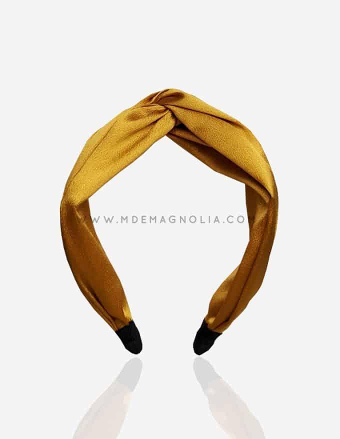 diadema grande para bodas color amarillo