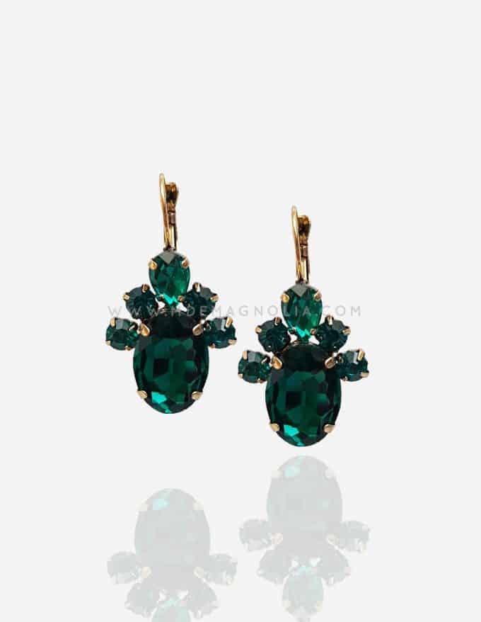pendientes de cristales verdes