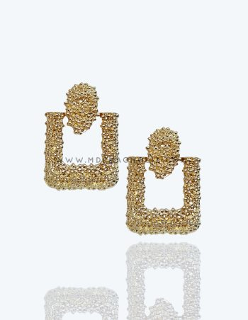 pendientes dorados grandes para bodas
