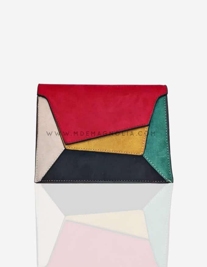 bolso de ante geometrico