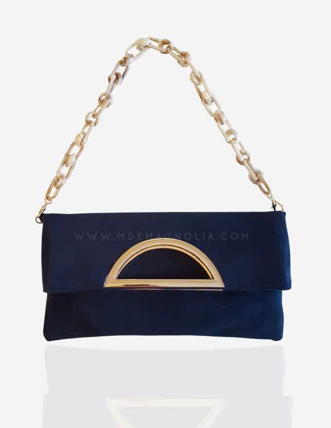 bolso azul marino