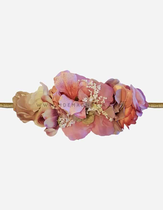 cinturon de flores rosas