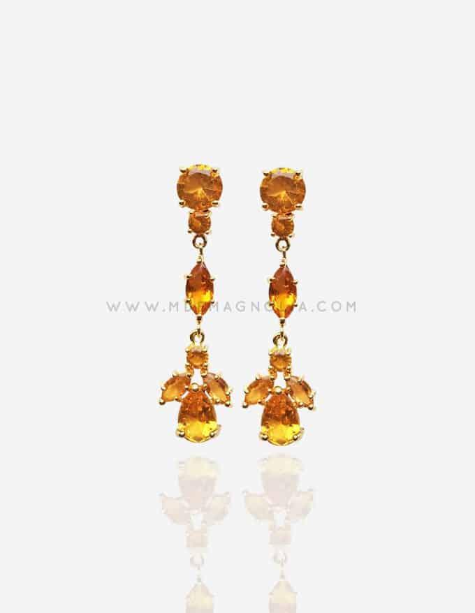 pendientes de cristal amarillos