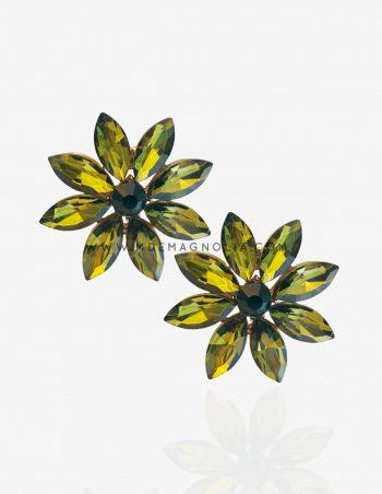 pendientes de cristal verde
