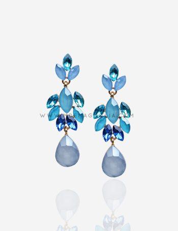 e302b9fccb9a pendientes de cristales azules