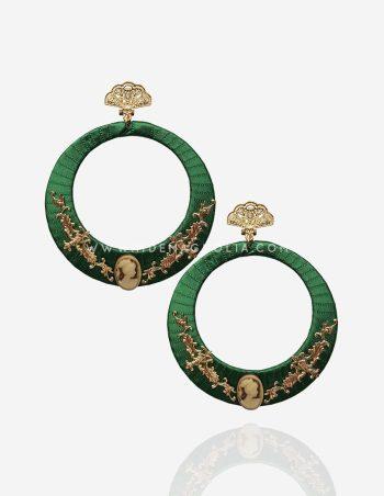 pendientes de flamenca verdes