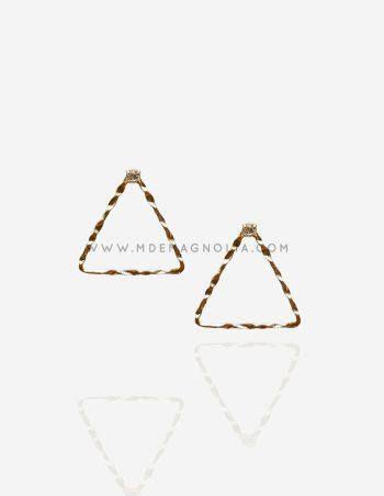 pendientes sencillos con forma de triangulo