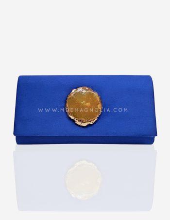 bolso azul electrico con piedra