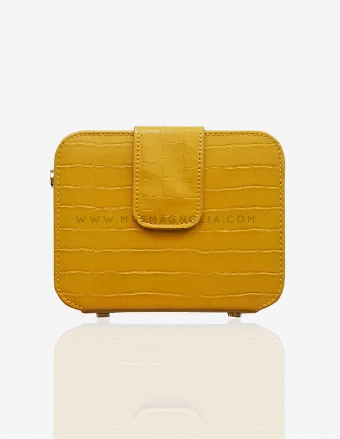 bolso original amarillo