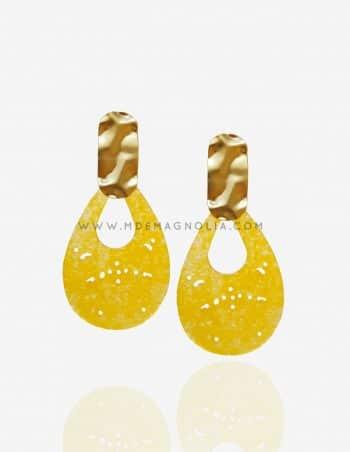 pendientes de nacar amarillos