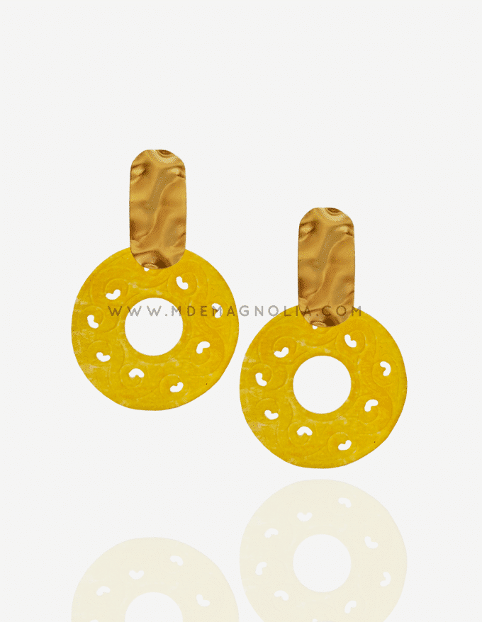 pendientes de nacar circulares