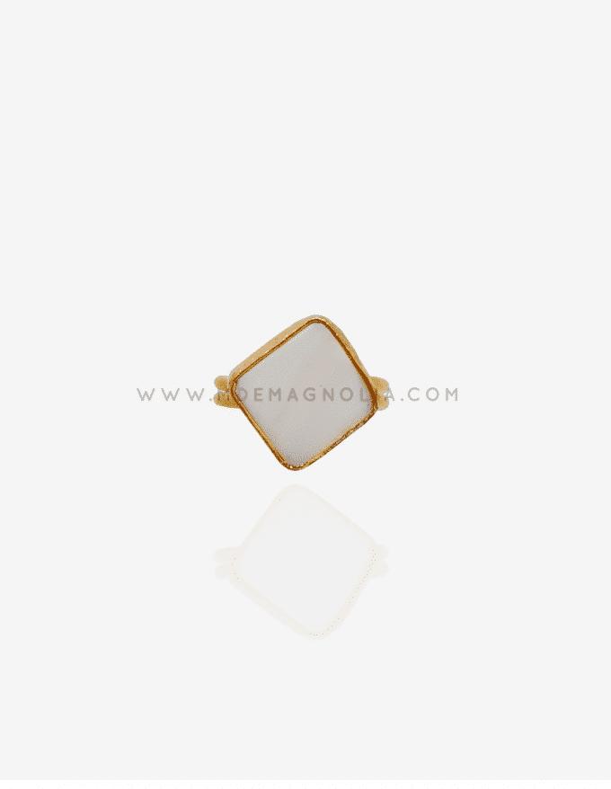 anillo ajustable blanco