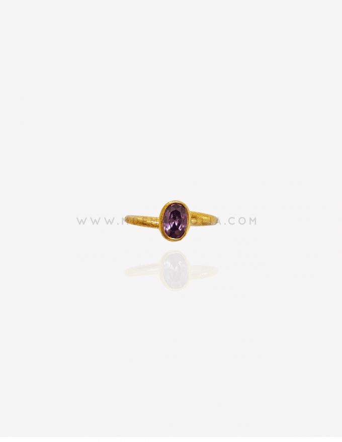 anillo minimalista de piedra natural