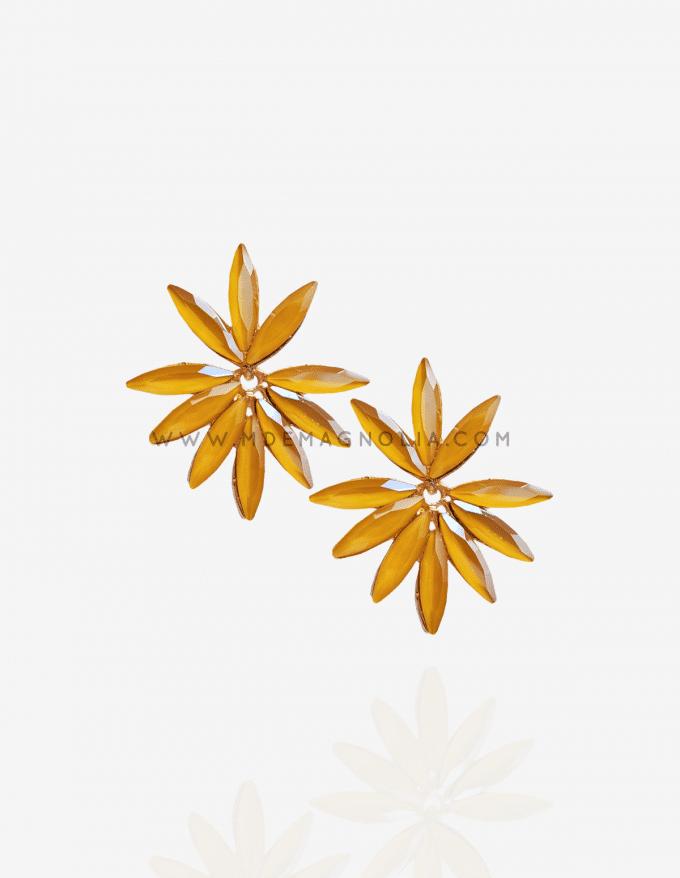 pendientes de cristales con forma de flor