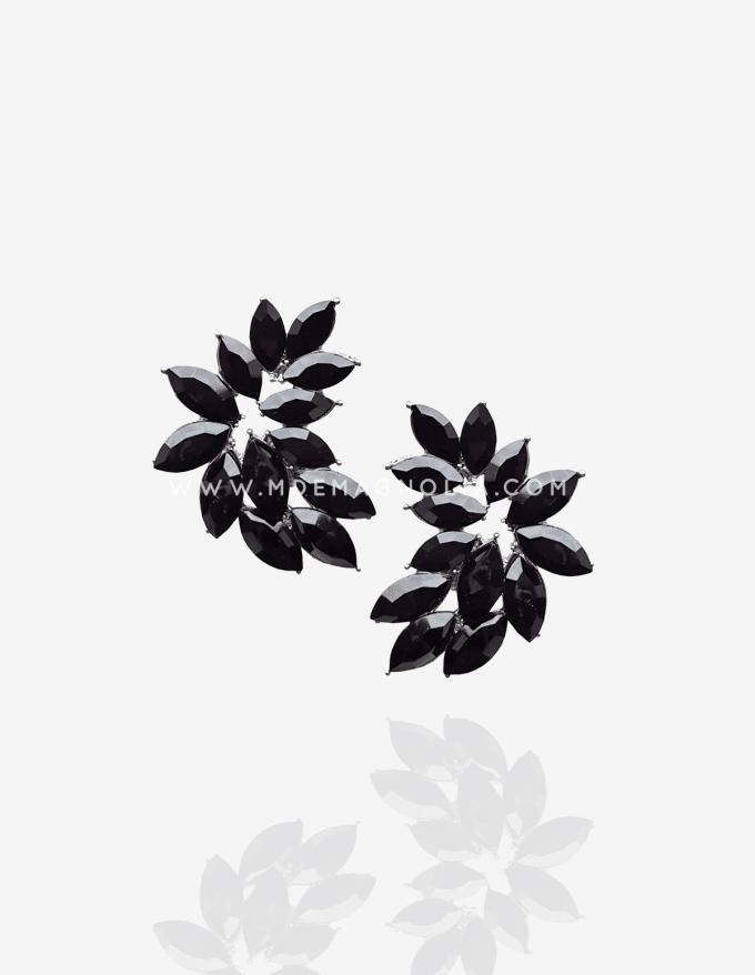 pendientes con forma de hoja de cristales
