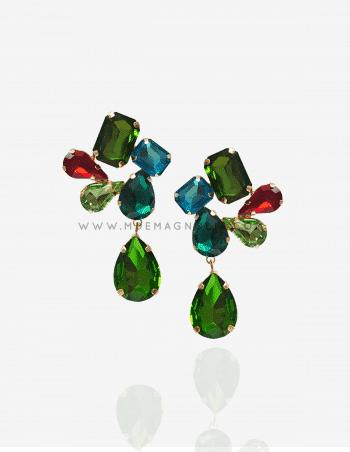 pendientes de cristales multicolor originales