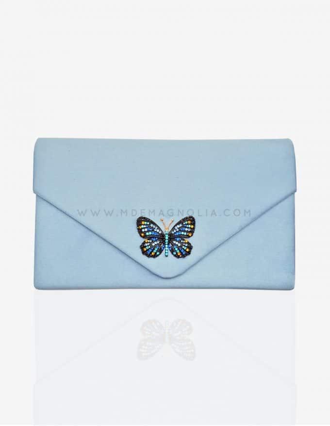 bolso de fiesta con mariposa