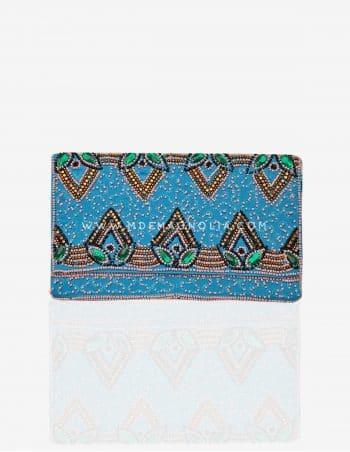 bolso de fiesta azul handmade