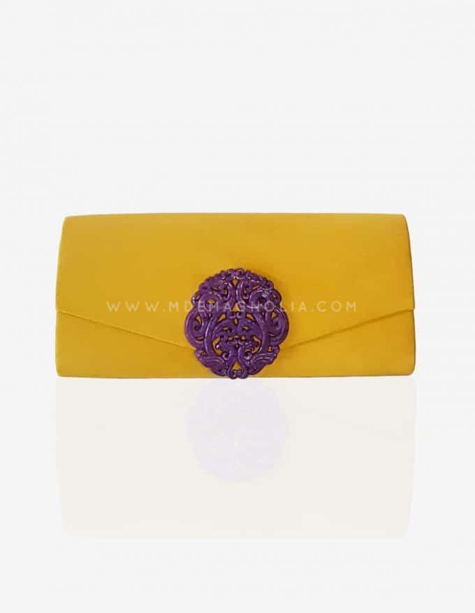 bolso joya amarillo para bodas