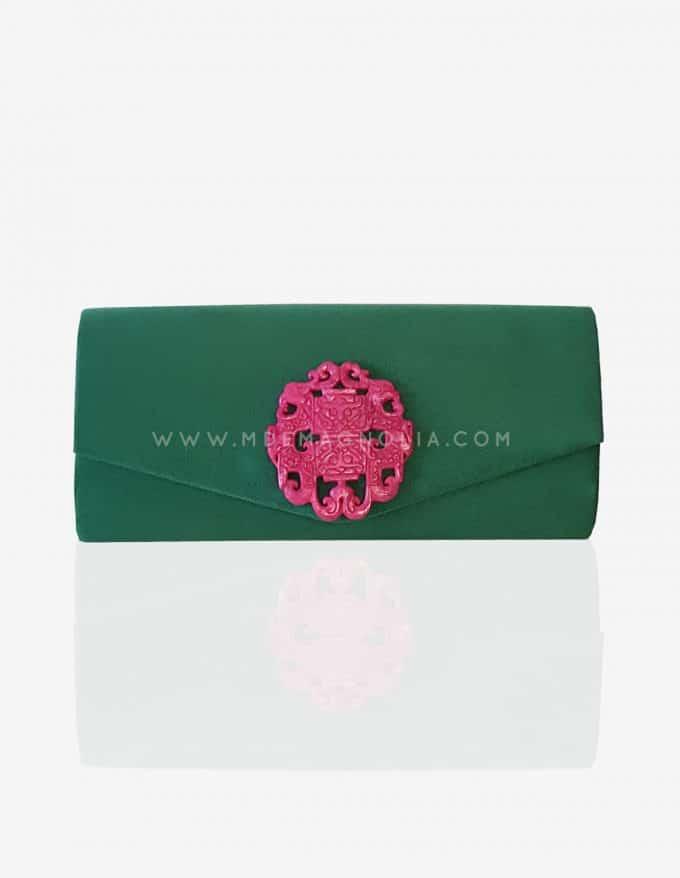 bolso verde para eventos