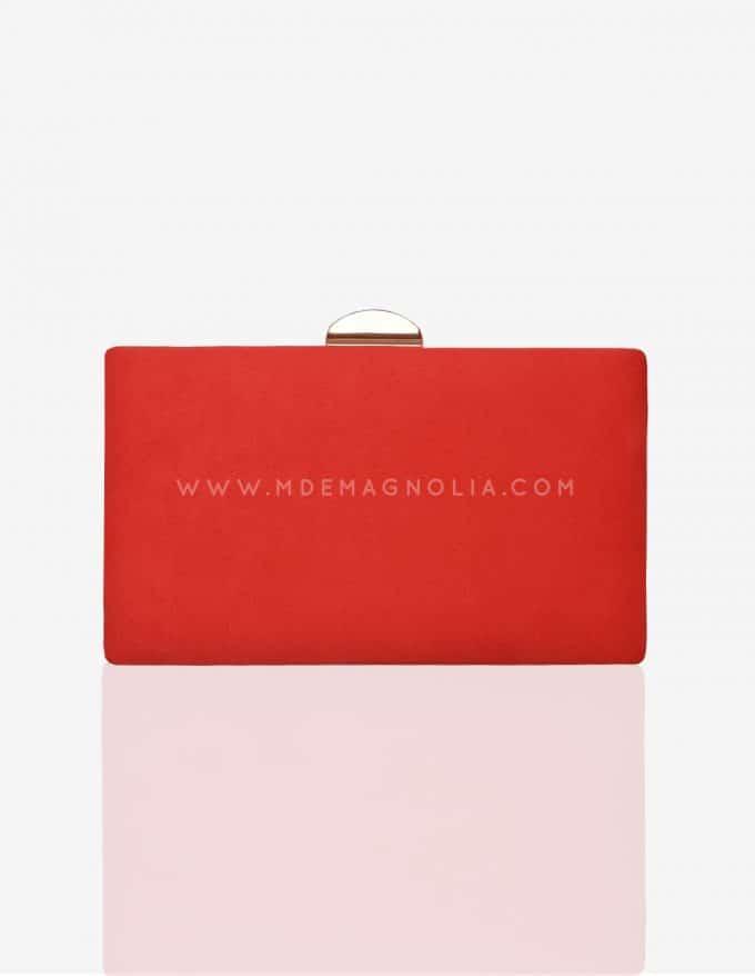 bolso de fiesta rojo anaranjado