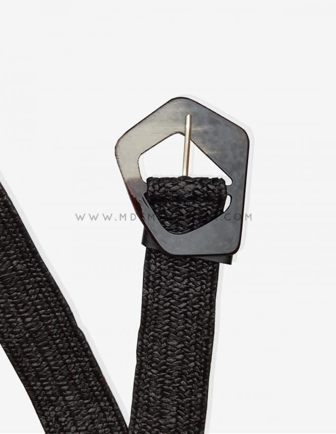 cinturón negro elástico