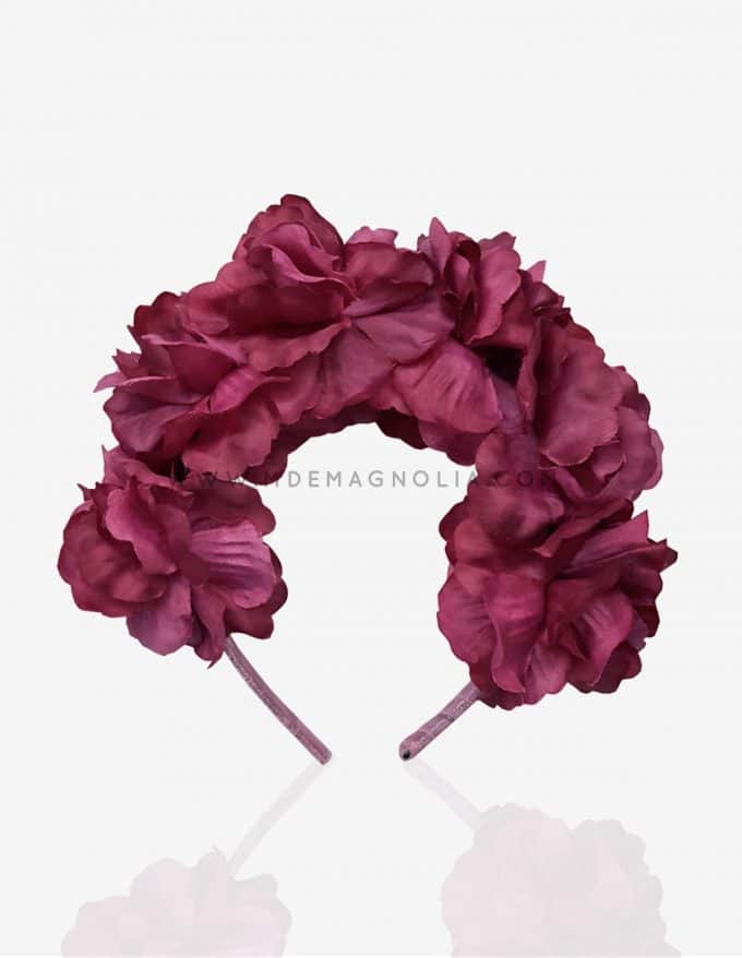 diadema de flores buganvilla