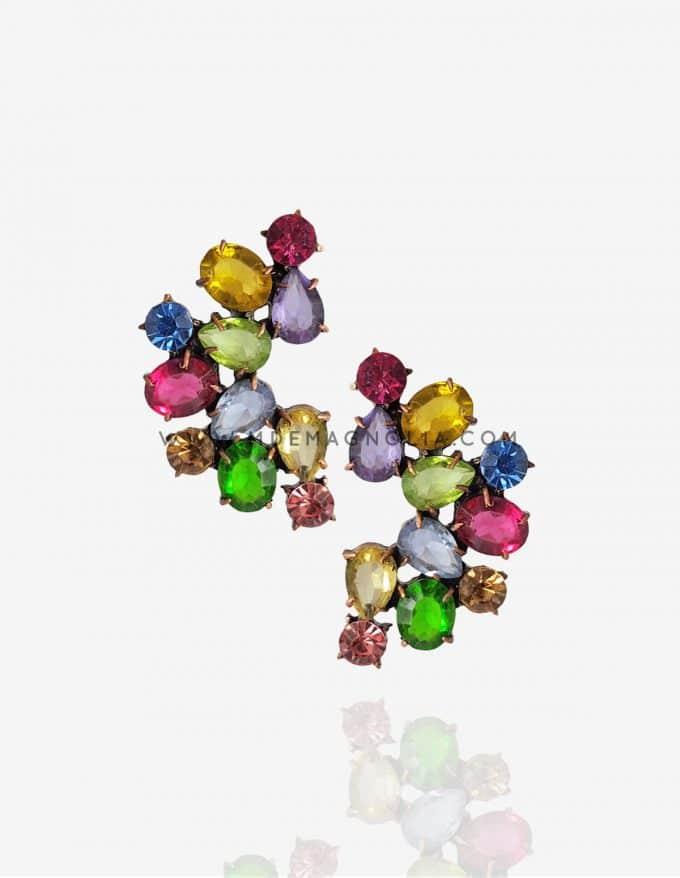 pendientes de cristal multicolor para bodas