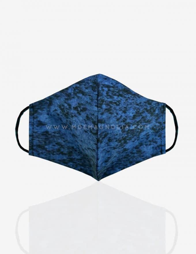 mascarilla de tela azul marino